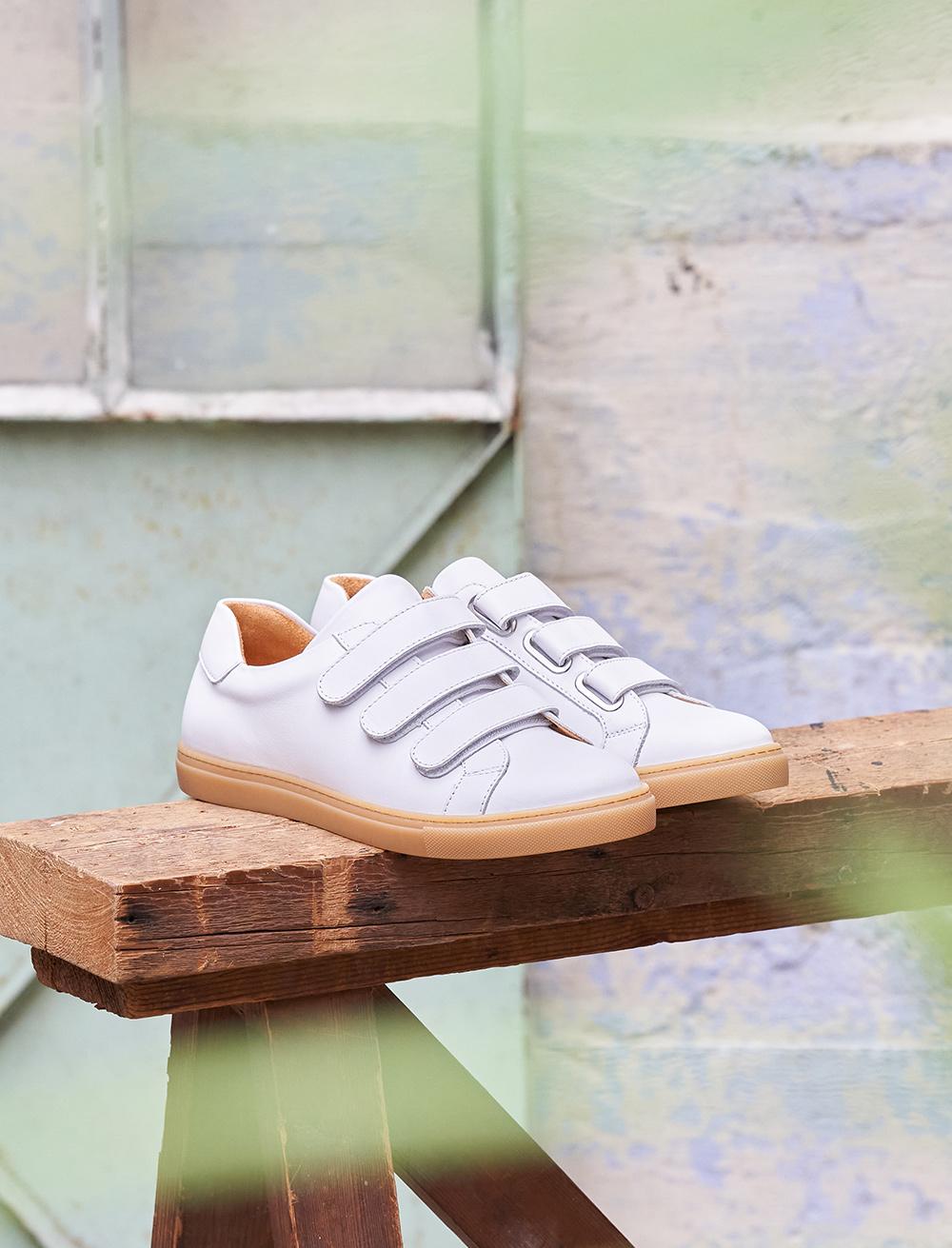 Sneakers Alice - Blanc et Miel