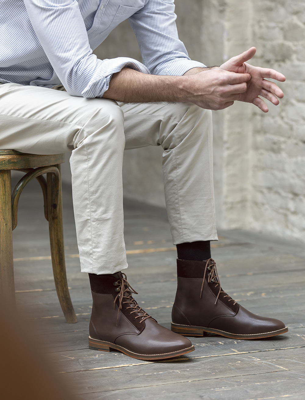 Combat boots Casual - Chocolat