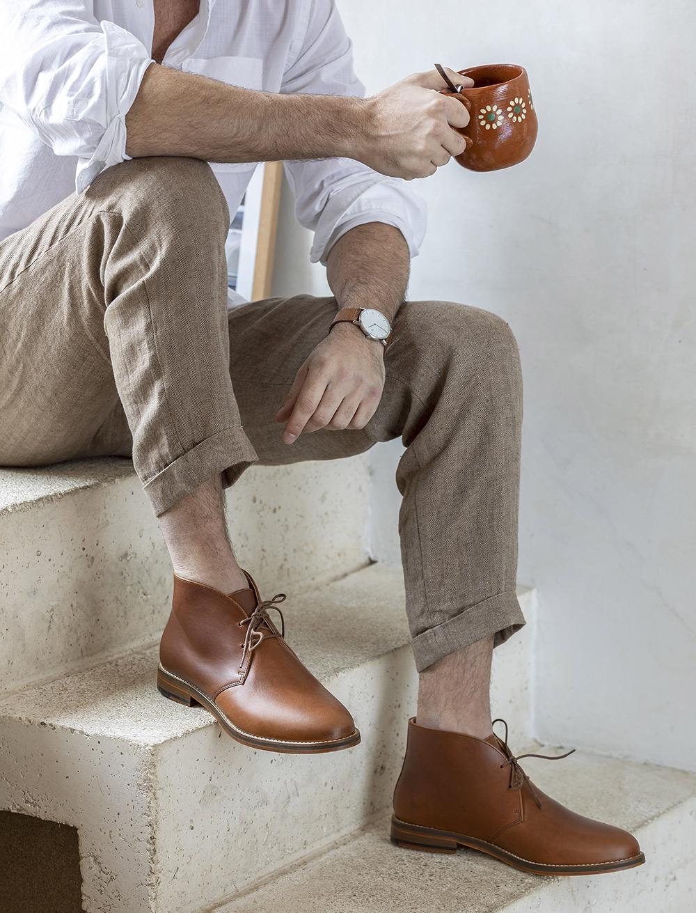 Desert boots - Havane