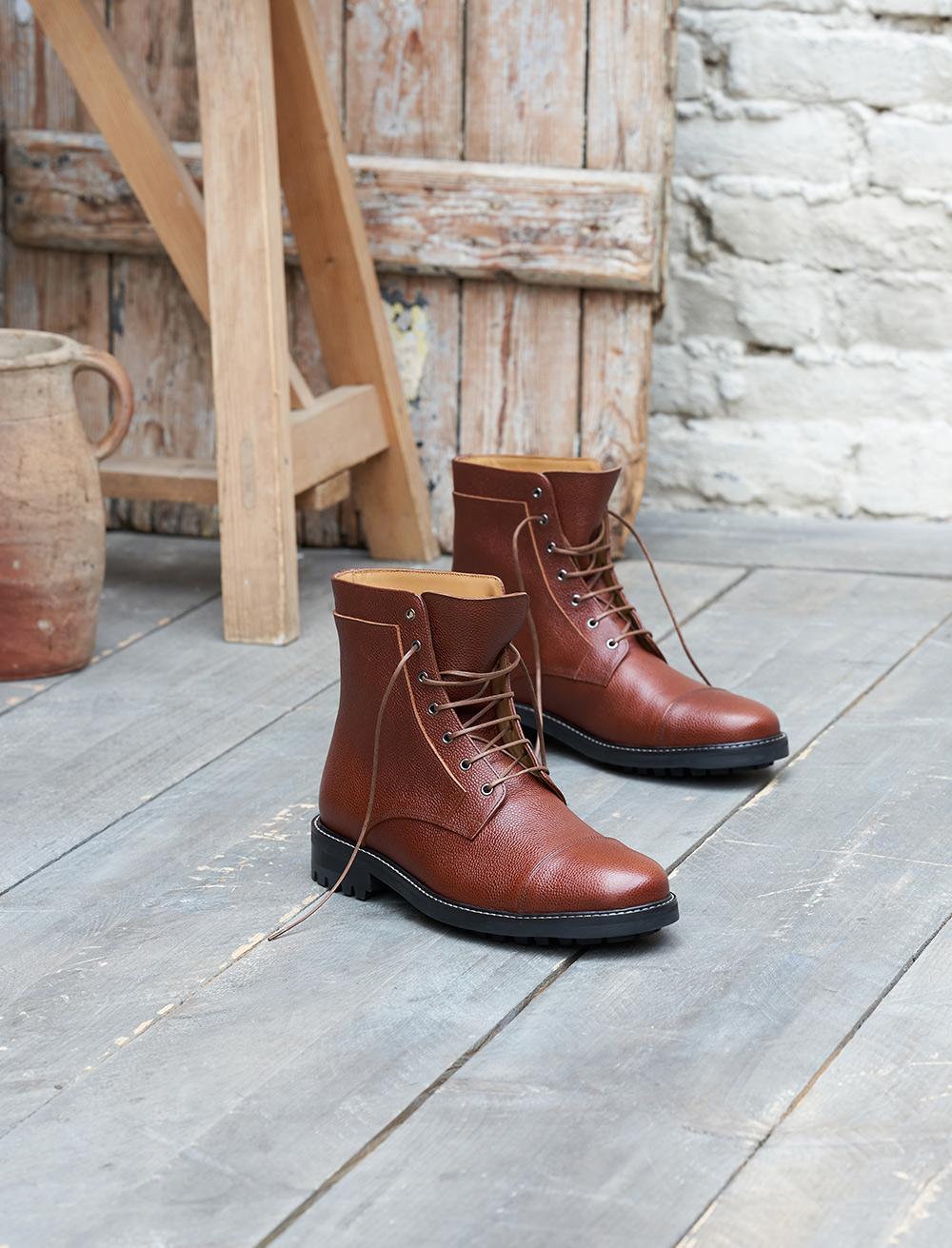 Combat boots Commando - Cognac