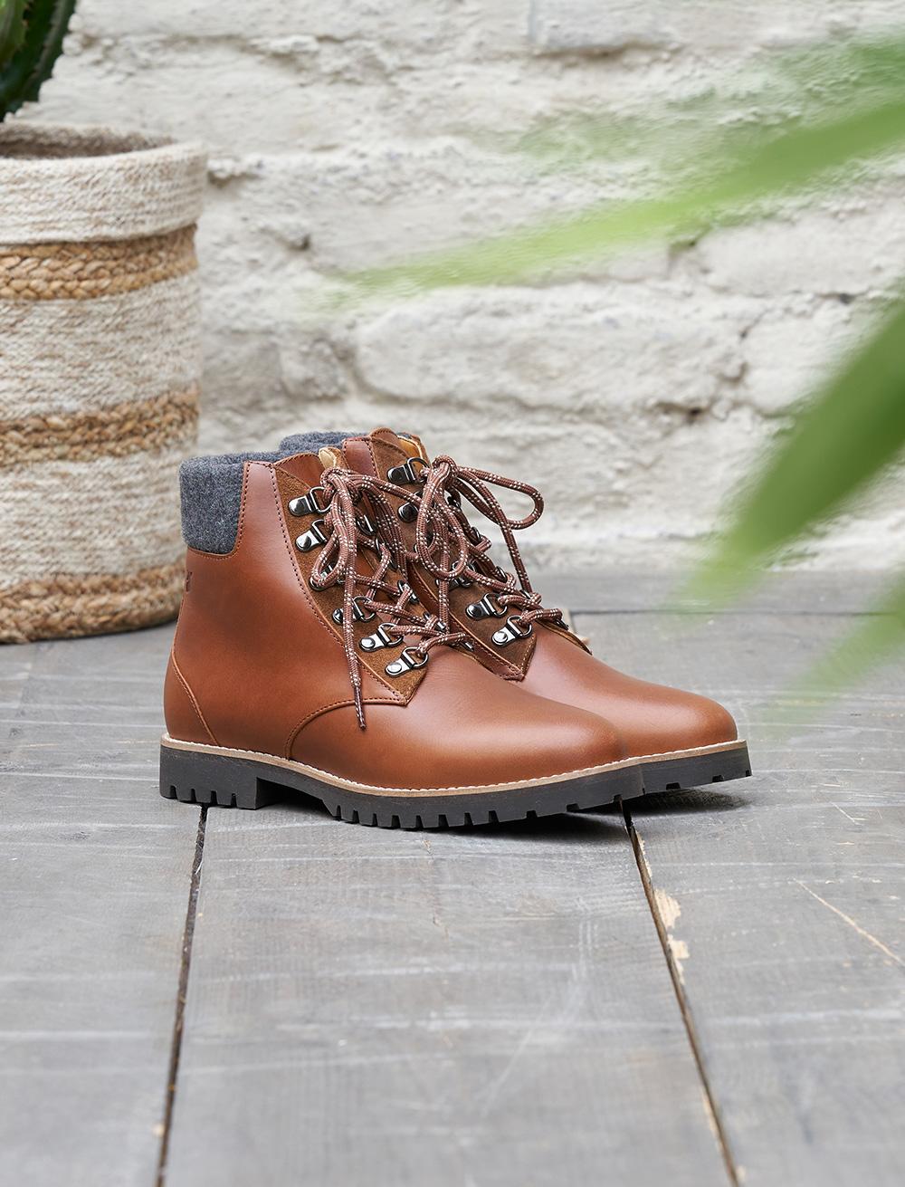 Combat boots Leah - Havane
