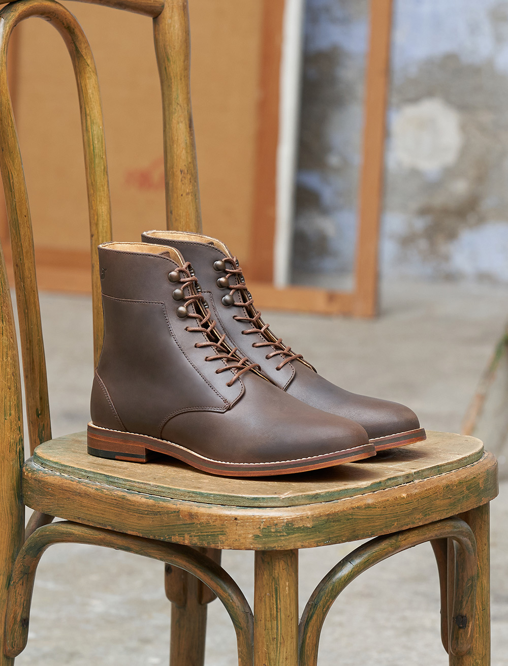 Combat boots Casual - Cacao
