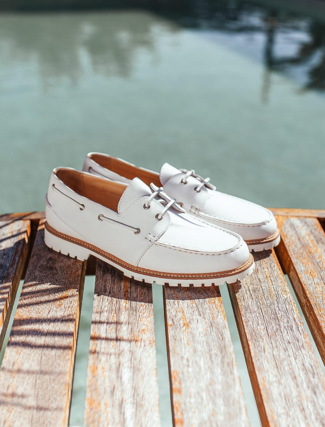 Chaussures Bateau - Blanc