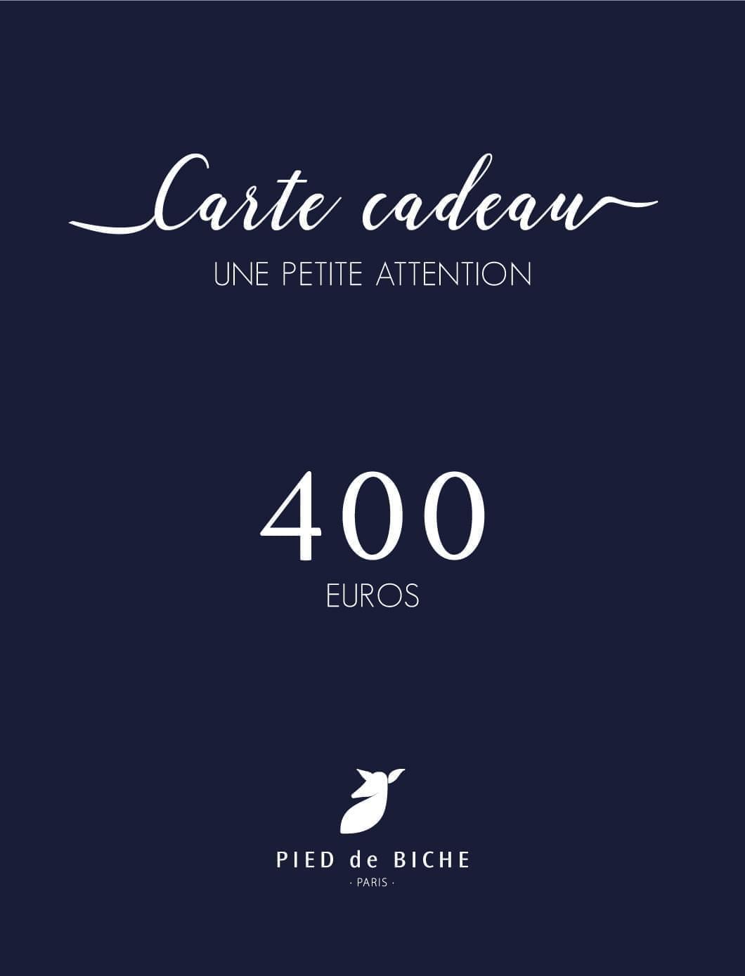 Carte cadeau 400 euros