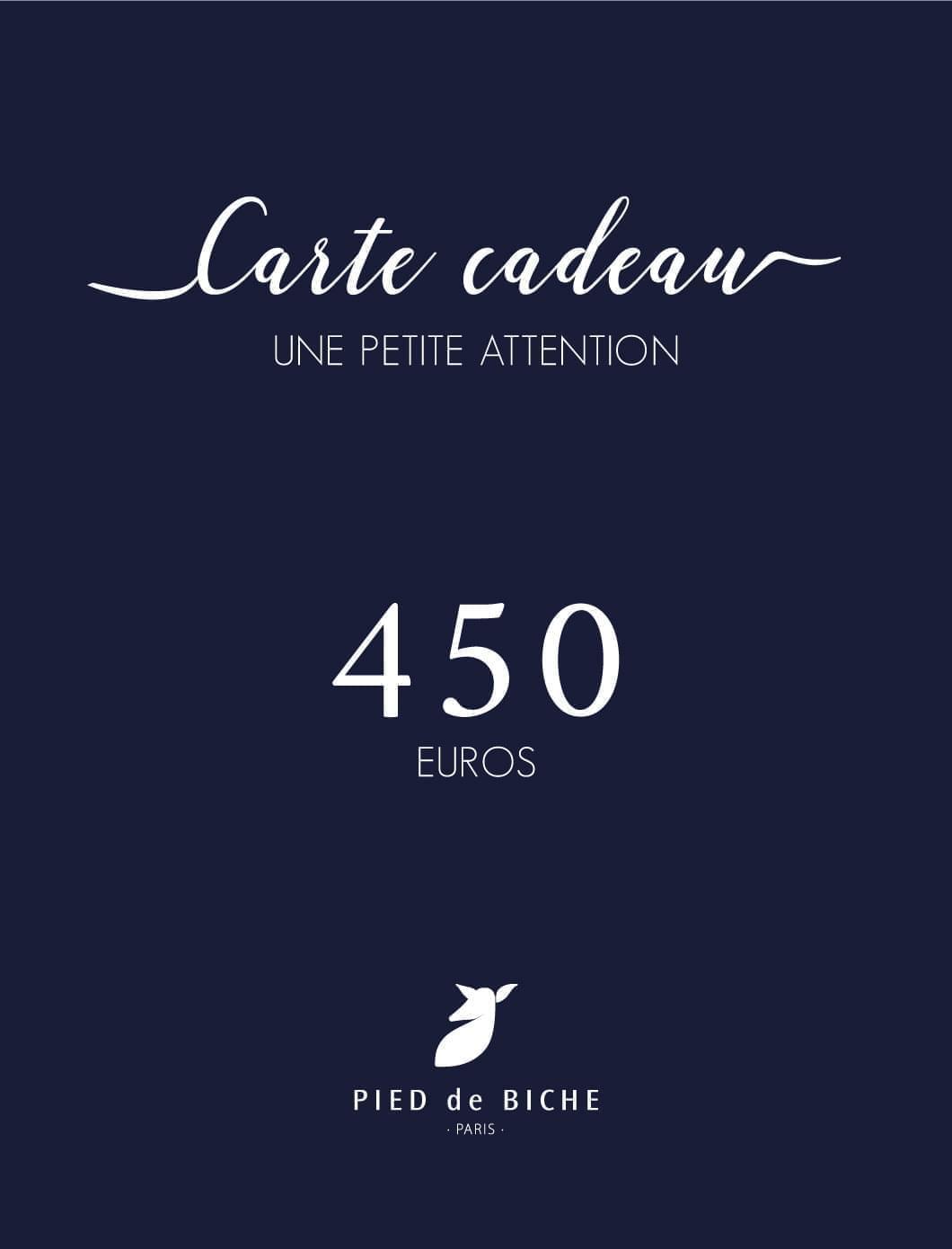 Carte cadeau 450 euros