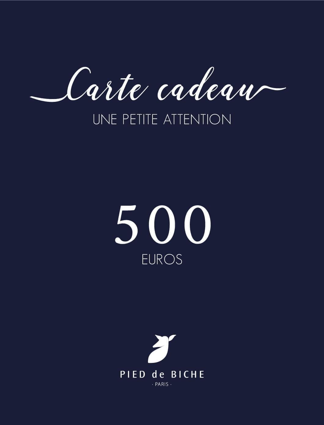 Carte cadeau 500 euros