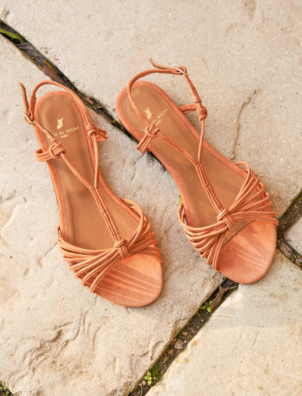 Sandales Inès - Papaye
