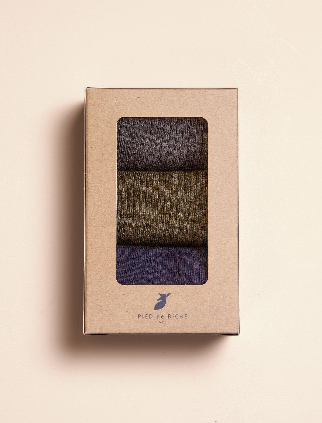 Chaussettes Côtelées - Trio pour Homme