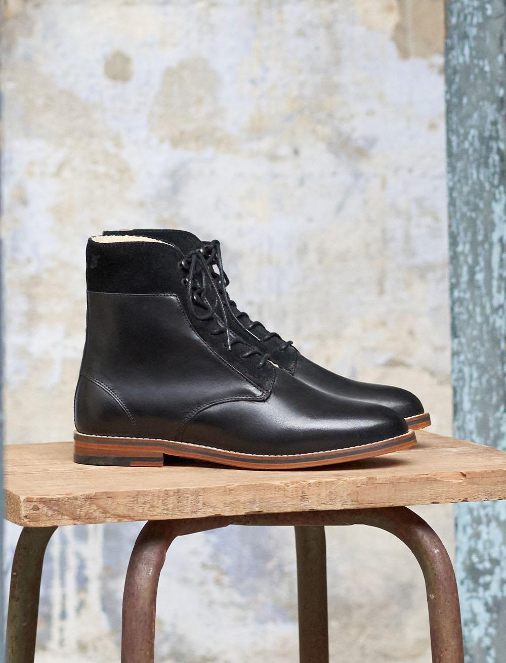 Combat boots Gabrielle Fourrées - Noir