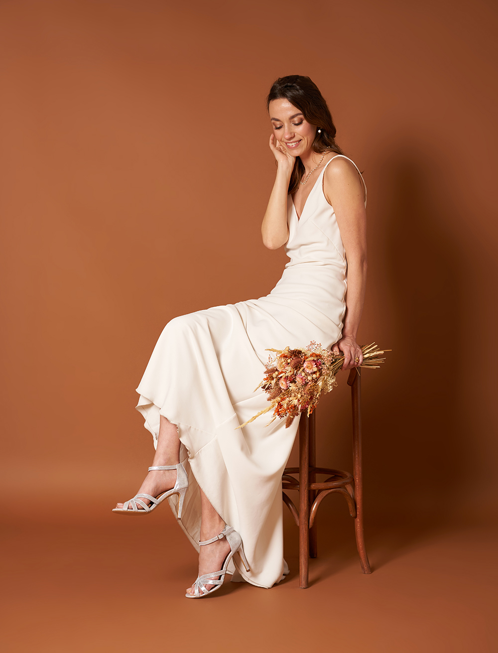 Sandales à talons Hortense - Argenté
