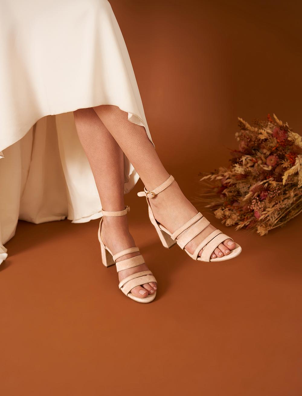 Sandales Alizée - Poudré
