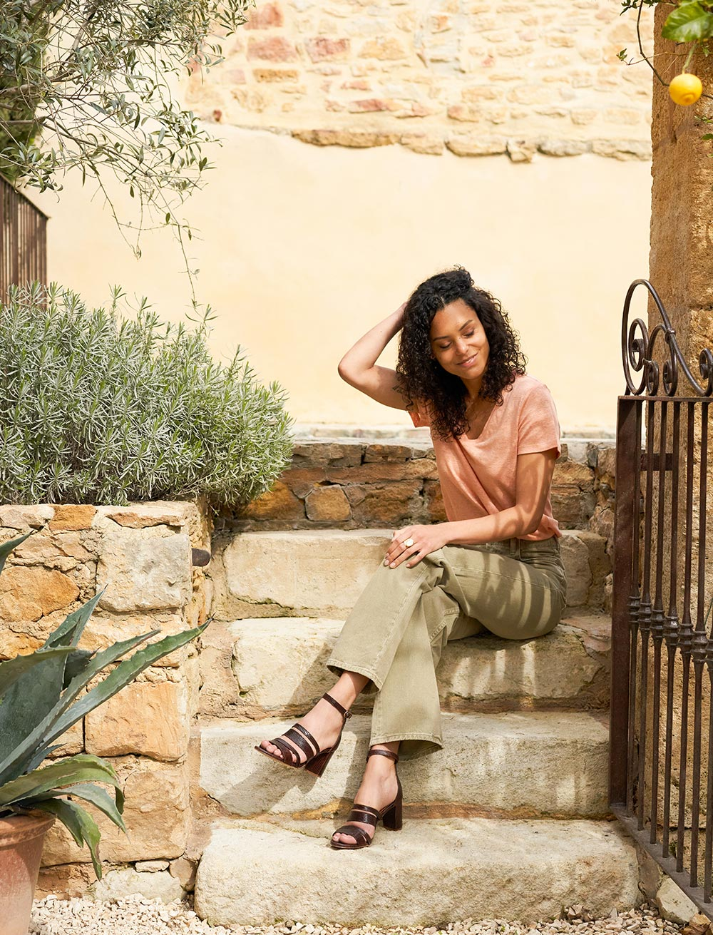 Sandales Alizée - Acajou