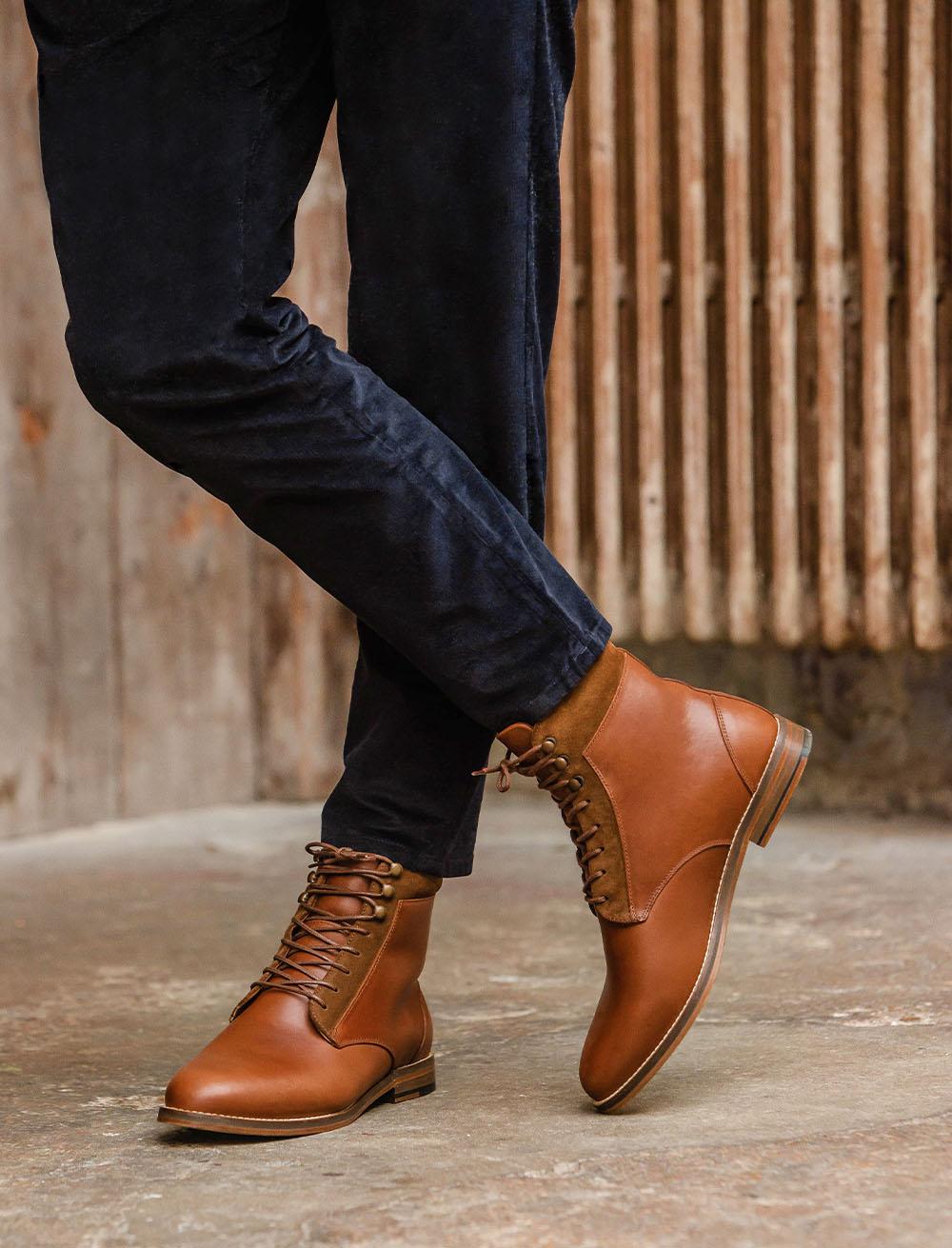 Combat boots Fourrées - Havane