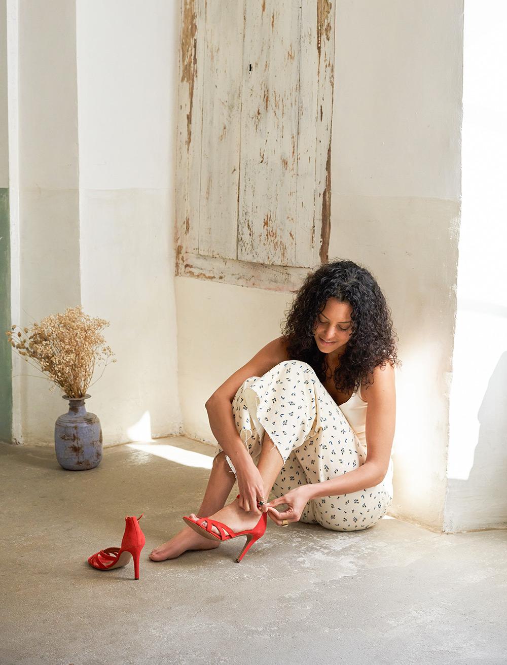 Sandales à talons Hortense - Vermeil