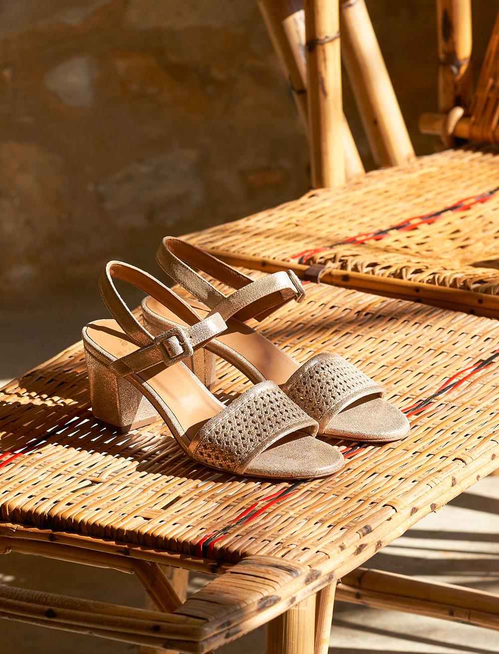 Sandales Agathe - Doré Perforé