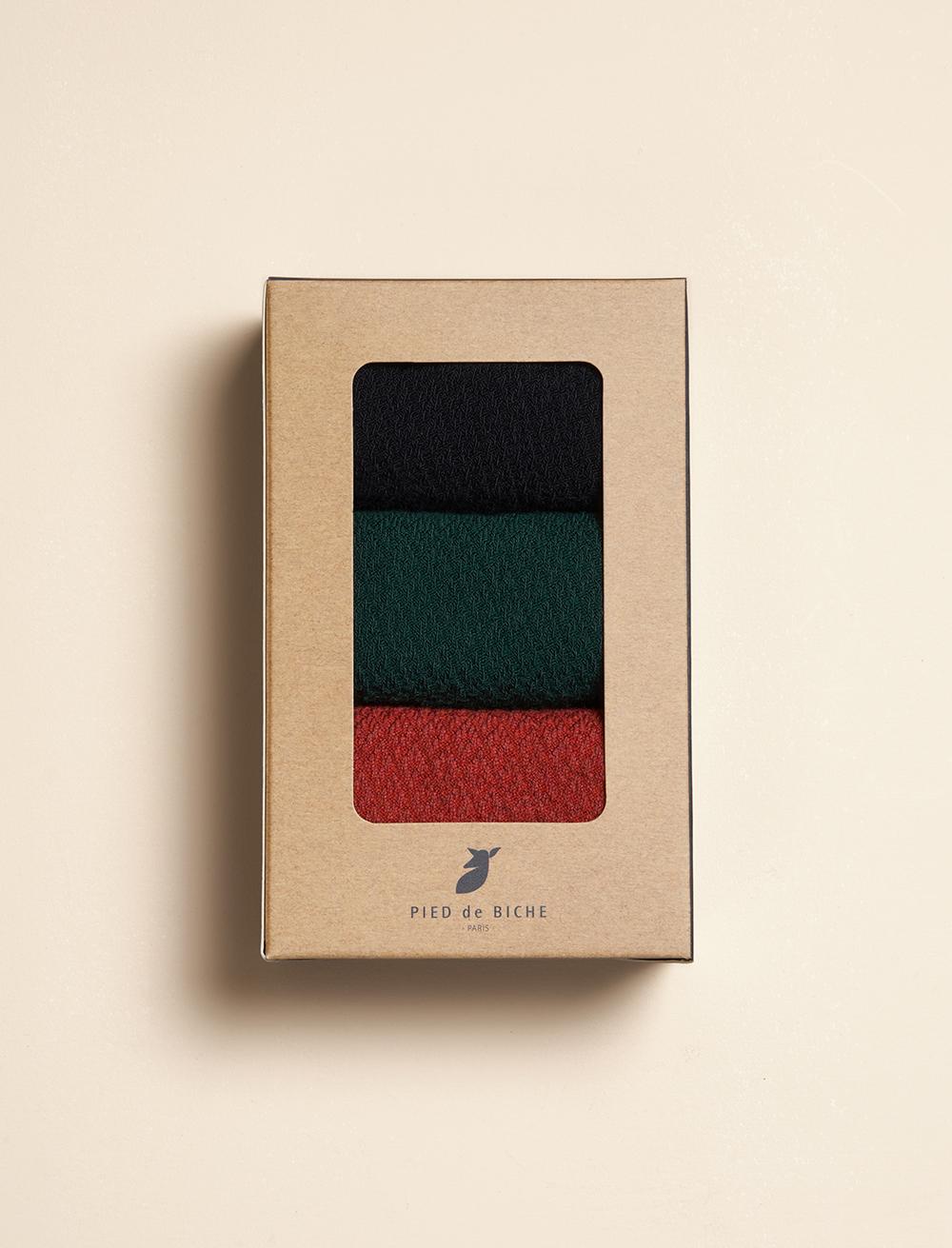 Chaussettes Gaufrées - Trio Femme