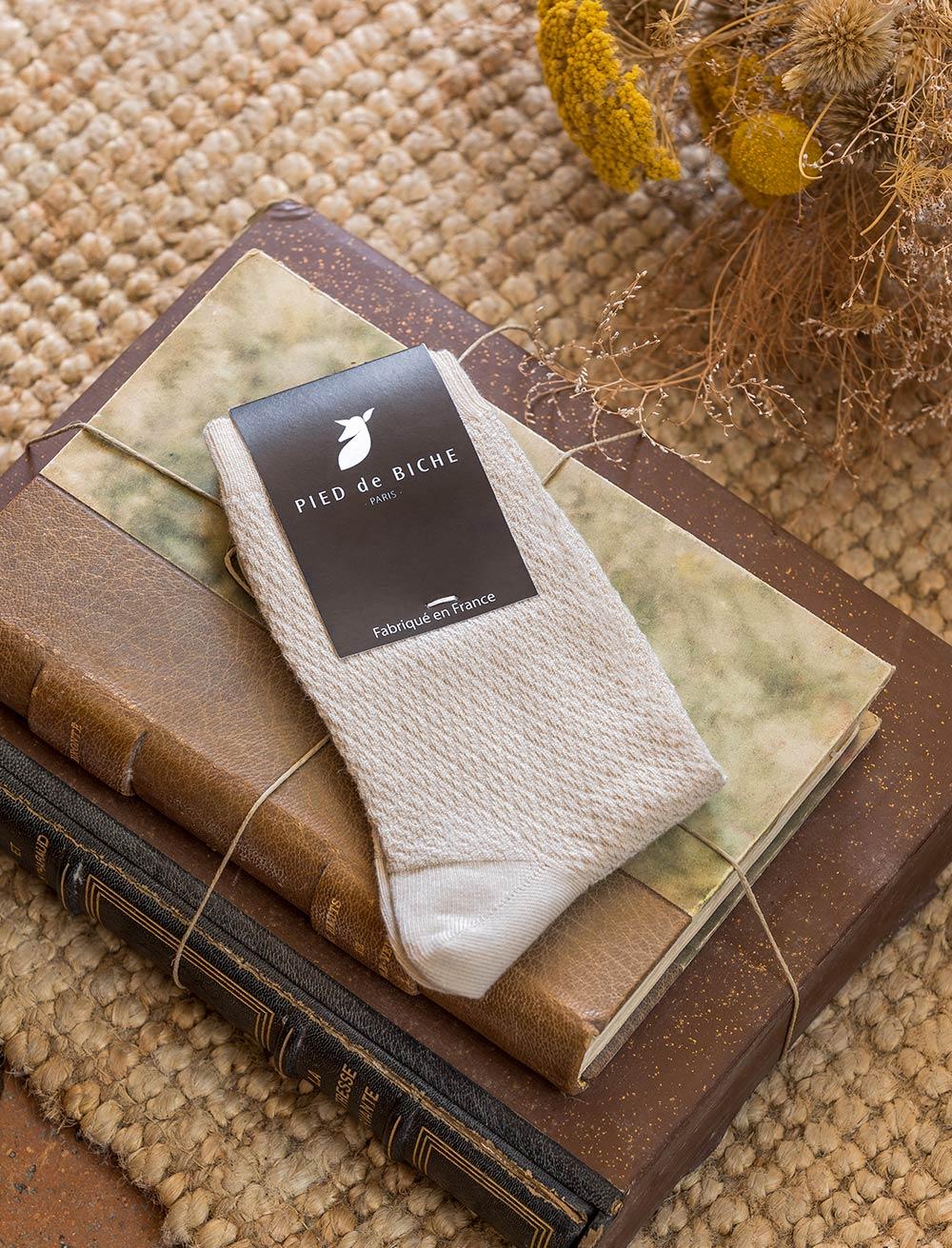 Chaussettes gaufrées - Sable