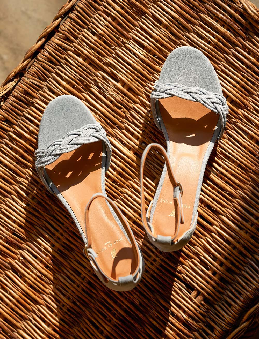 Sandales Gisèle - Perle
