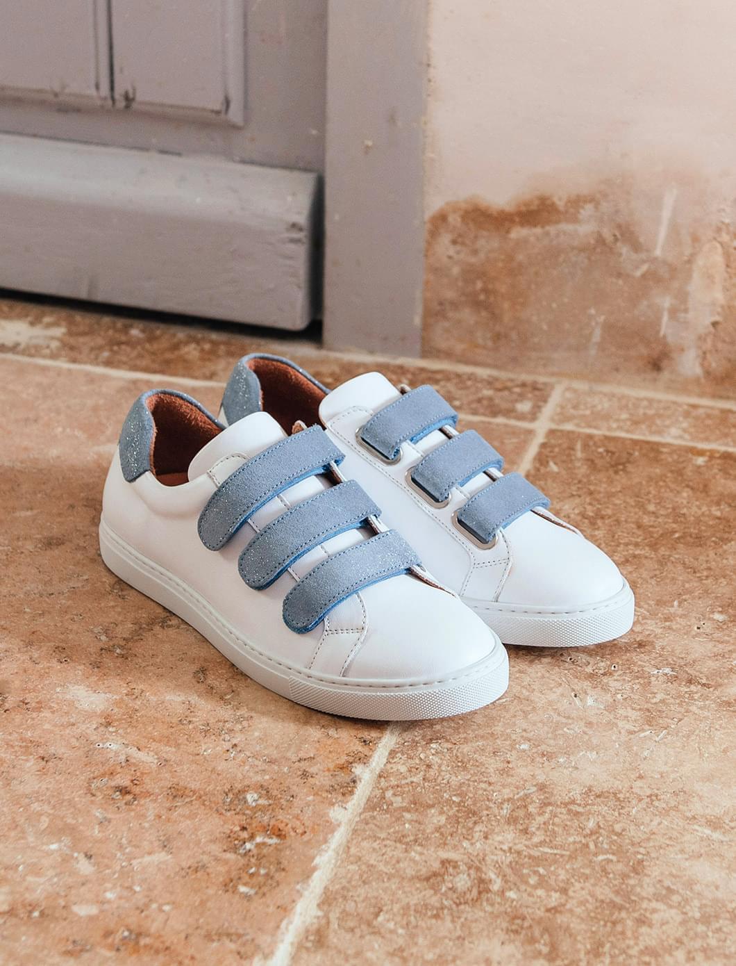 Sneakers - Blanc et ciel