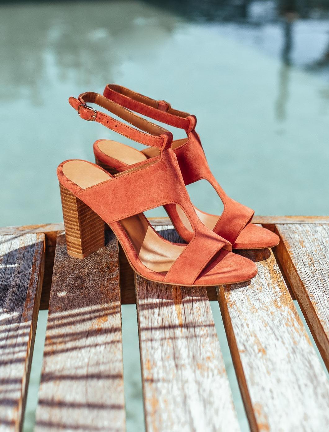 Sandales à talons Gabie - Brique