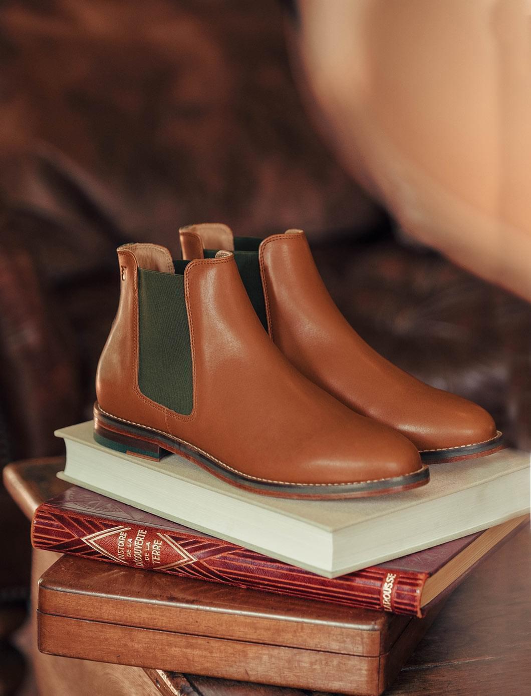 Chelsea boots - Cognac et kaki