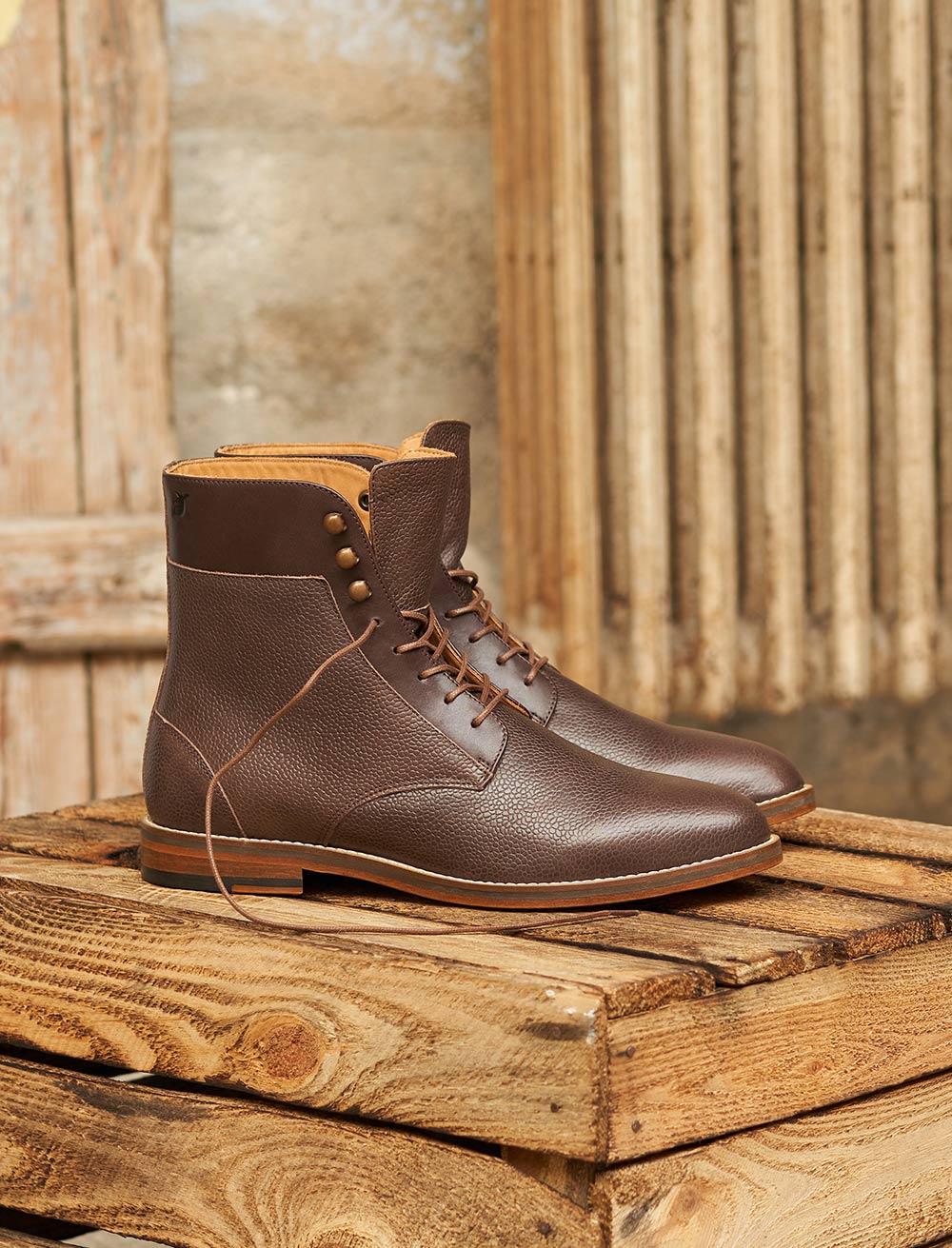 Combat boots Casual - Chocolat grainé