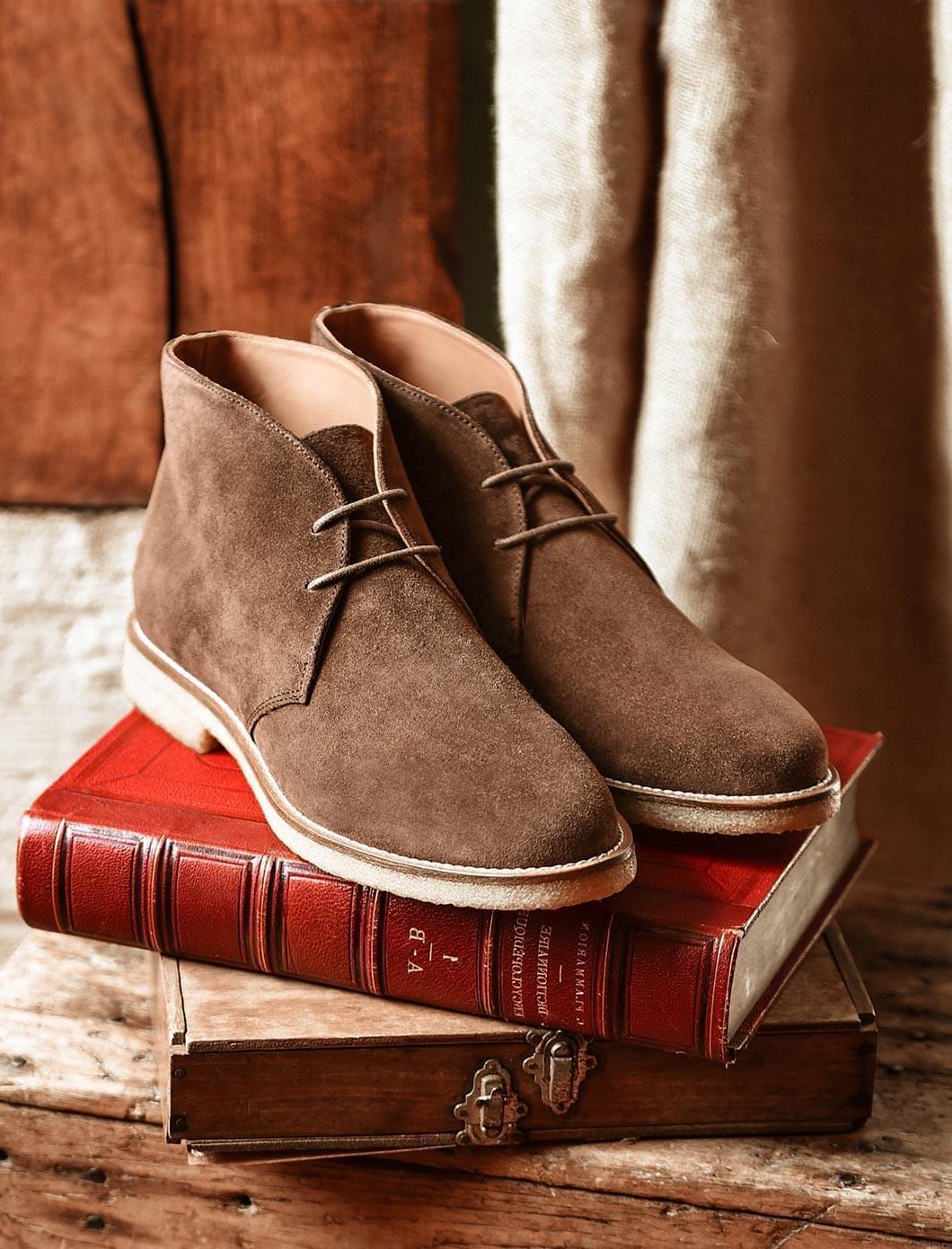 Desert Boots - Velours chocolat