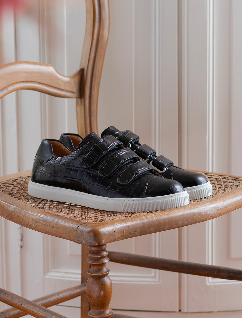 Sneakers Alice - Croco noir