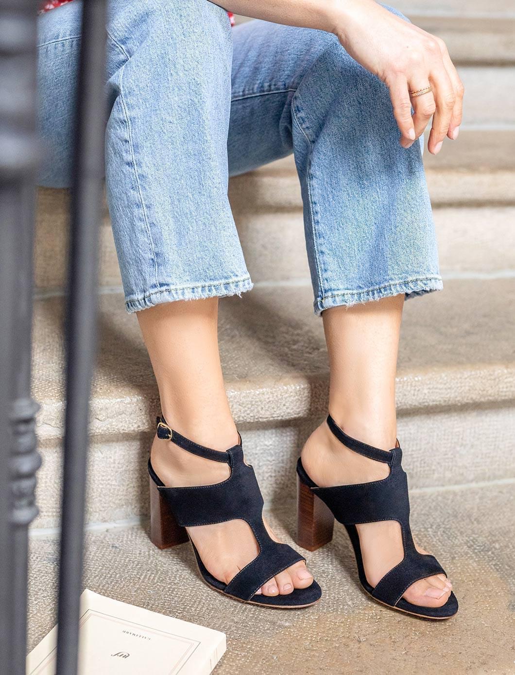 Sandales à talons Gabie - Noir