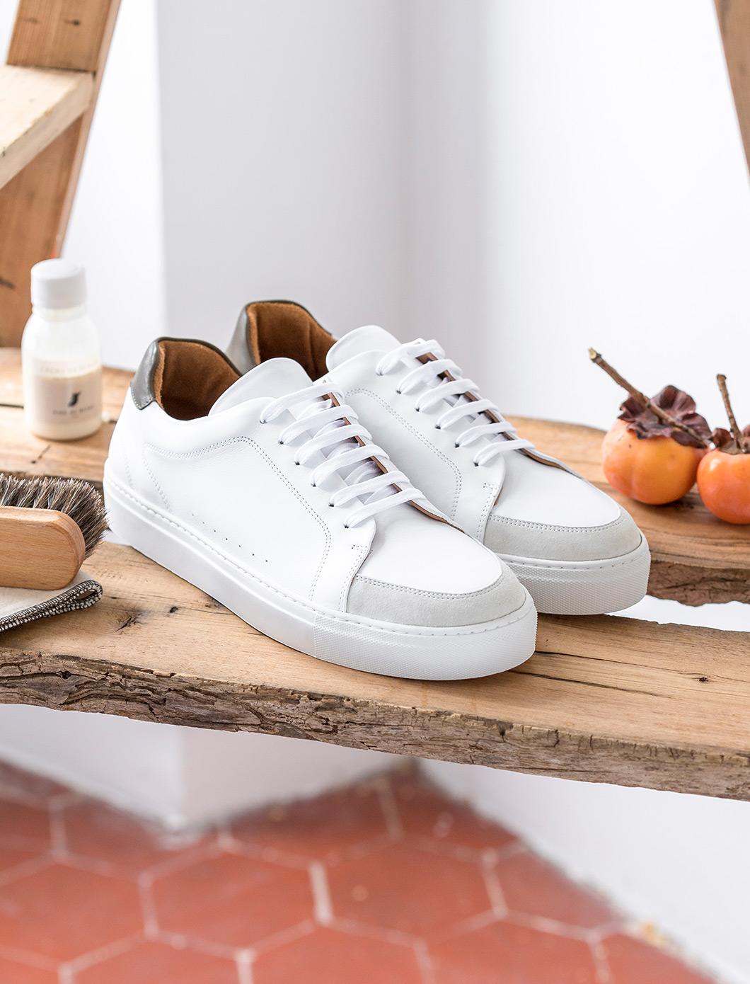 Sneakers - Blanc et kaki