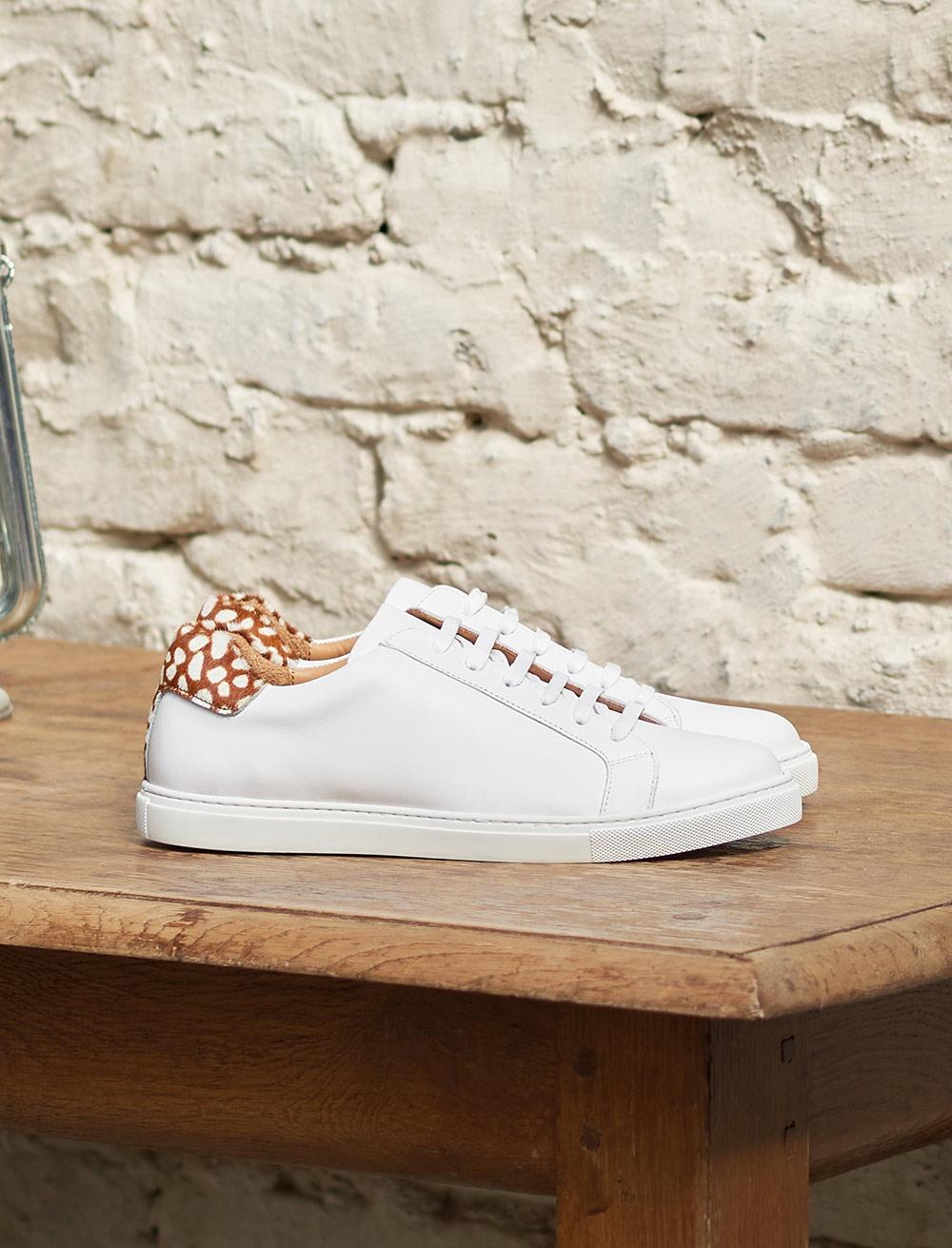 Sneakers Olivia - Blanc et biche