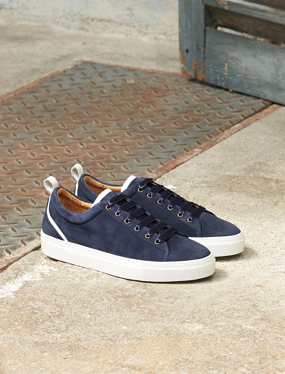 Sneakers Lola - Marine et blanc
