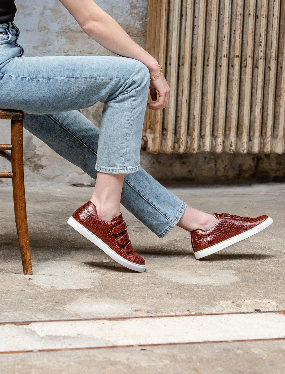 Sneakers Alice - Grenat écaille