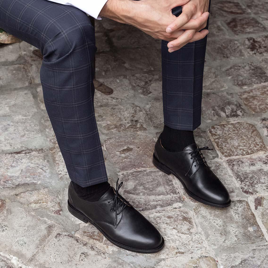 Chaussures Derbies pour Homme : en Cuir, Élégantes et