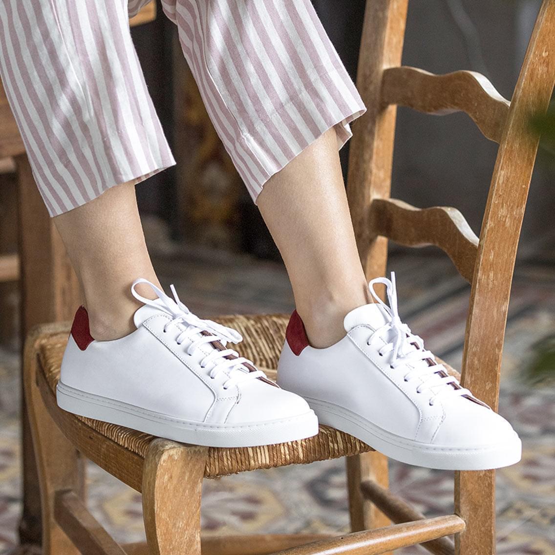 D Ou Vient Le Cuir sneakers - blanc et rouille